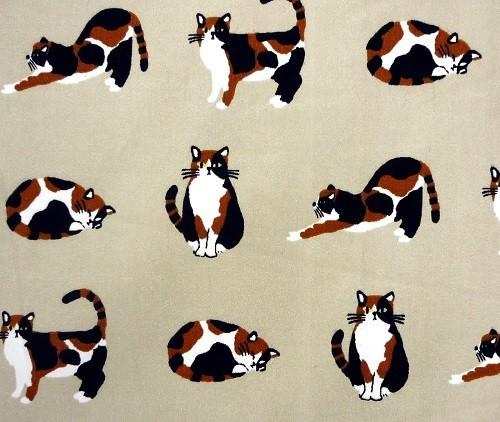 のれん みやけさんBE 85x120cm 三毛猫柄のかわいいのれんの別カット写真